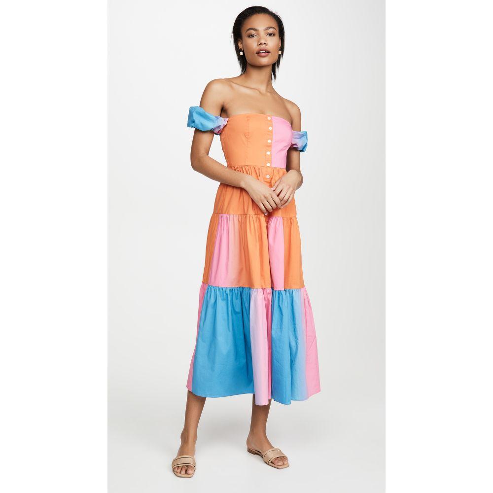 スタウド STAUD レディース ワンピース ワンピース・ドレス【Elio Dress】Hibiscus Multi