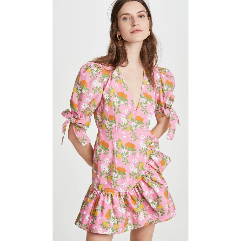 ビバ アビバ Viva Aviva レディース ワンピース Vネック ミニ丈 ワンピース・ドレス【Harbor V Neck Mini Dress】Pink Citrus Garden