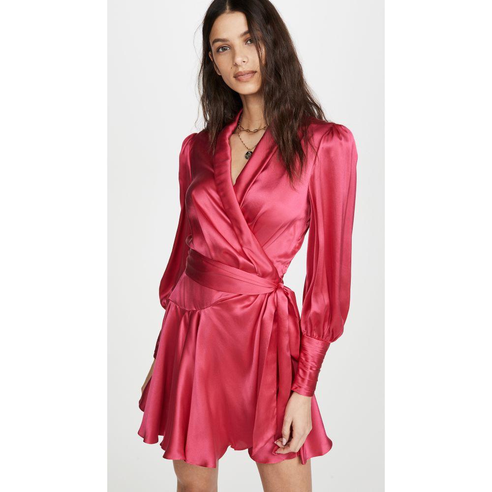 ジマーマン Zimmermann レディース ワンピース ラップドレス ミニ丈 ワンピース・ドレス【Silk Wrap Mini Dress】Magenta