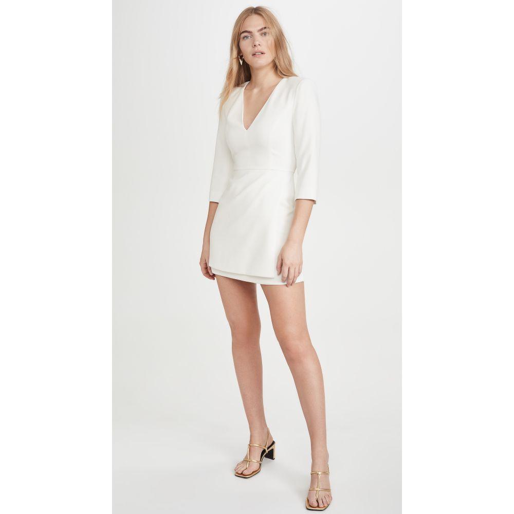 アリス アンド オリビア alice + olivia レディース ワンピース ワンピース・ドレス【Stevie Double Later Dress】Off White