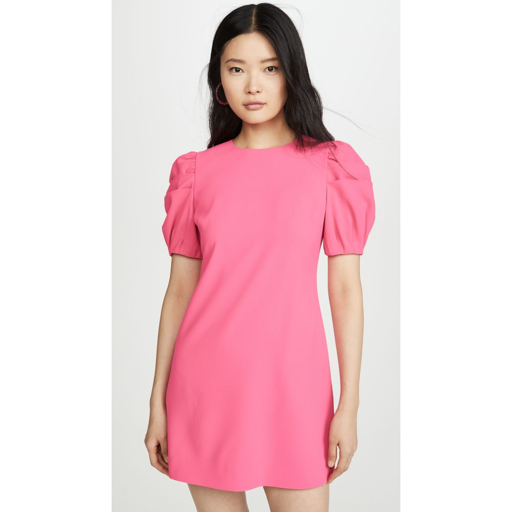 アリス アンド オリビア alice + olivia レディース ワンピース シフトドレス ワンピース・ドレス【Hanita Puff Sleeve Shift Dress】Wild Pink