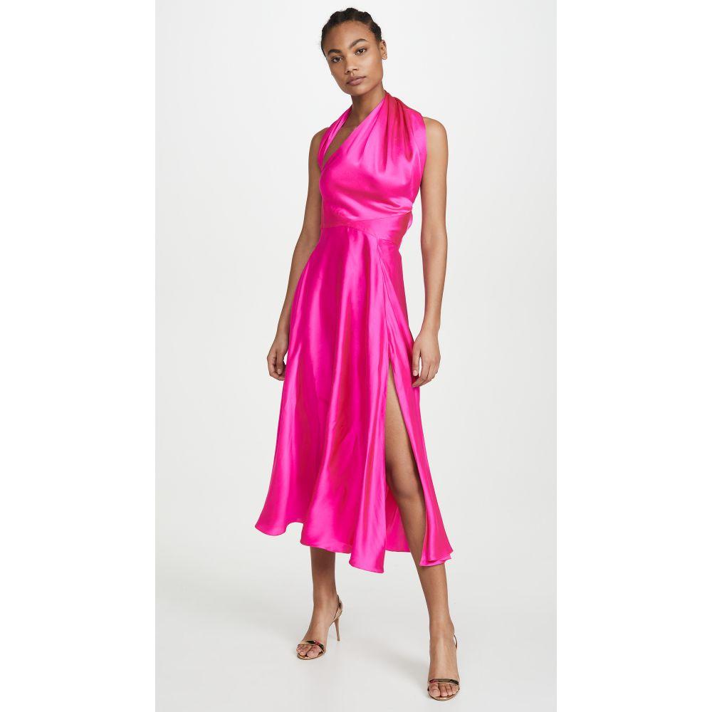 Azeeza レディース ワンピース スリットワンピース ワンピース・ドレス【Midi Dress with Slit】Ultra Pink