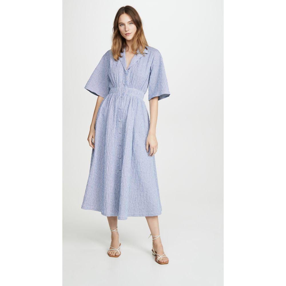 バイエニィアザーネーム By any Other Name レディース ワンピース ワンピース・ドレス【Shirred Waist Tea Dress】Blue Stripe