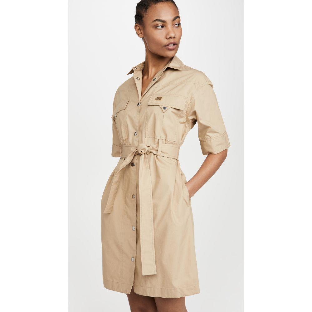 コーチ Coach 1941 レディース ワンピース シャツワンピース ワンピース・ドレス【Short Sleeve Safari Shirtdress】Light Beige