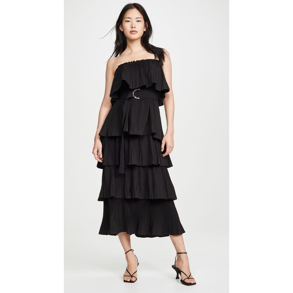 エッセンシャル Essentiel Antwerp レディース ワンピース ワンピース・ドレス【Valentina Ruffled Dress】Black