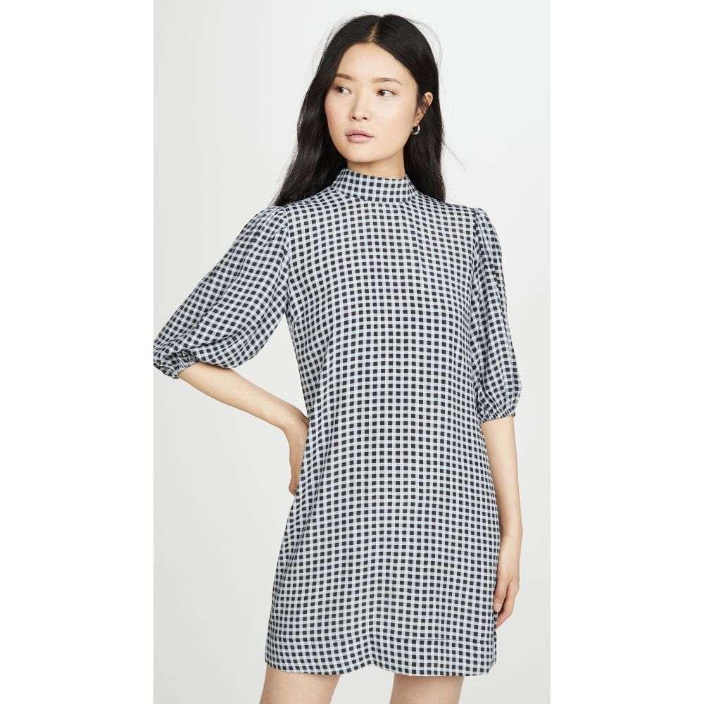 ガニー GANNI レディース ワンピース ワンピース・ドレス【Printed Crepe Dress】Brunnera Blue