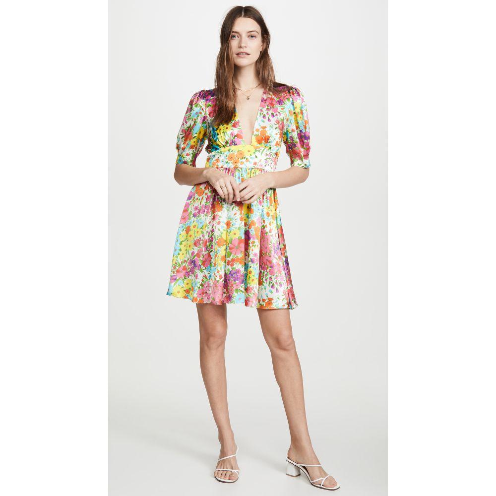 レ レヴェリズ LES REVERIES レディース ワンピース ミニ丈 ワンピース・ドレス【Gigi Mini Dress】Kaleidoscope Garden White
