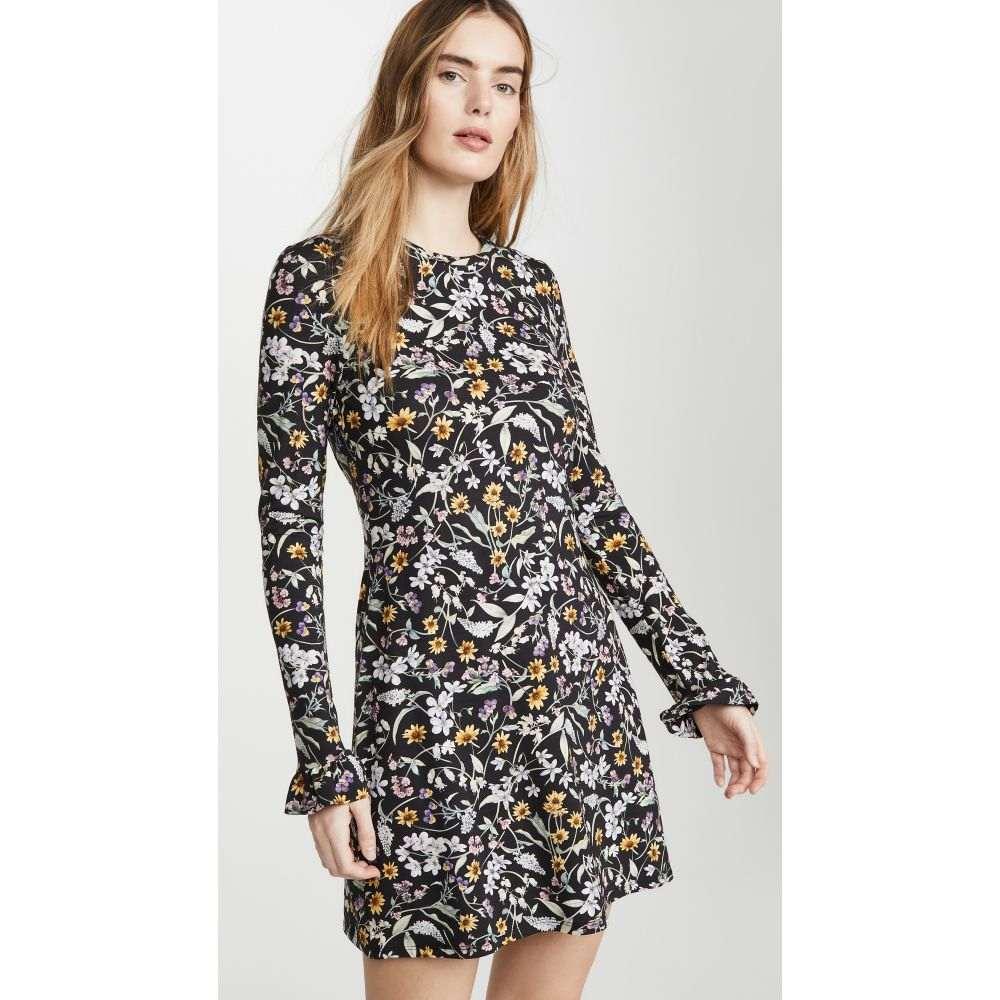 レ レヴェリズ LES REVERIES レディース ワンピース ミニ丈 ワンピース・ドレス【Open Back Long Sleeve Mini Dress】Liberty Floral Black