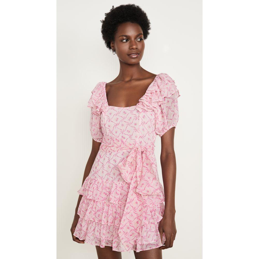 ラブシャックファンシー LOVESHACKFANCY レディース ワンピース ワンピース・ドレス【Kimbra Silk Dress】Pink Bonnet