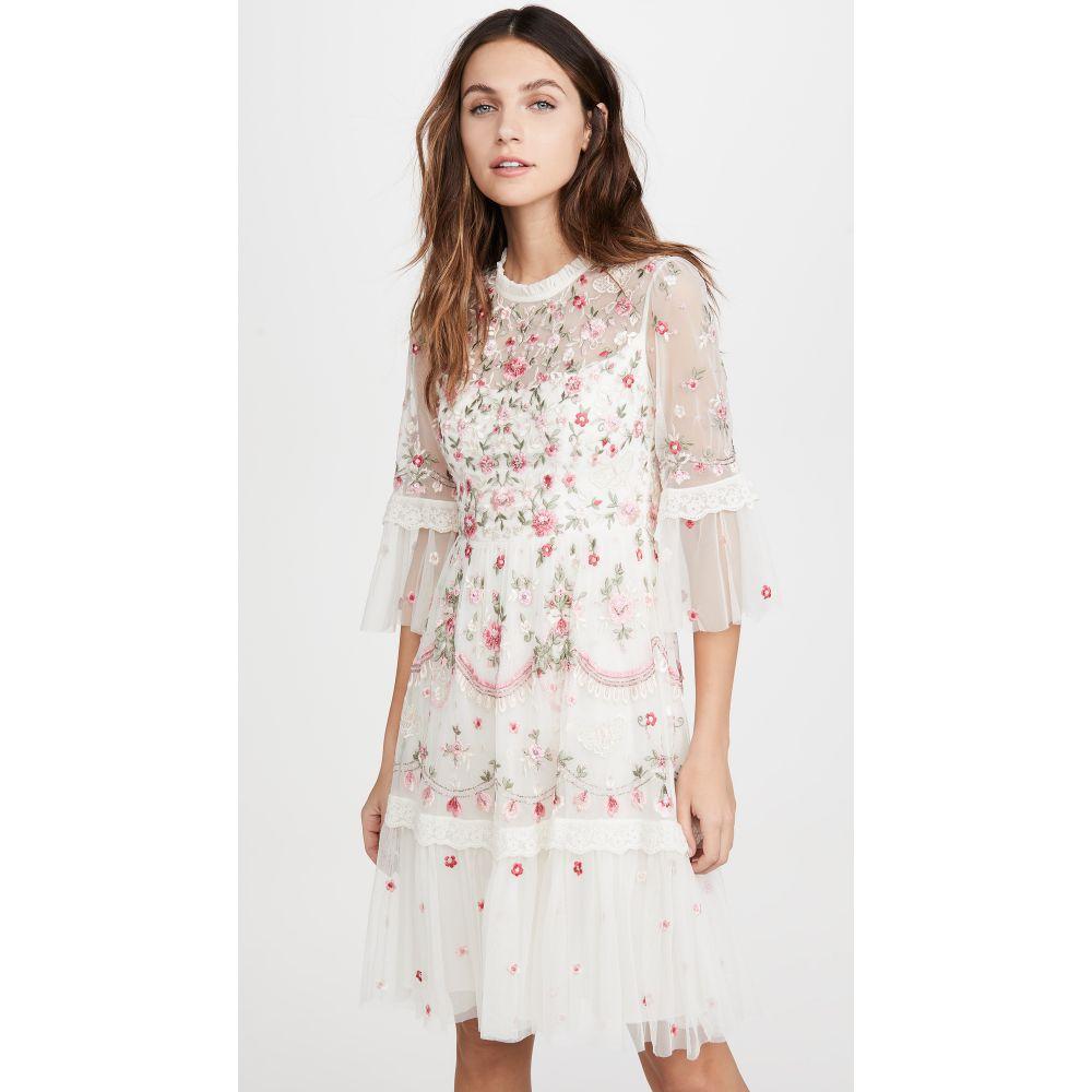 ニードル アンド スレッド Needle & Thread レディース ワンピース ワンピース・ドレス【Butterfly Meadow Dress】Moonshine White