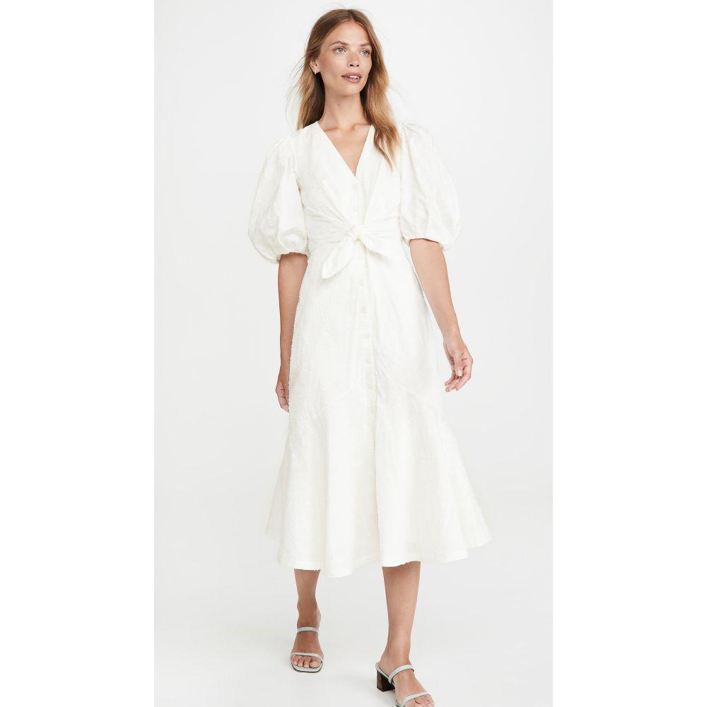 レベッカ テイラー Rebecca Taylor レディース ワンピース ワンピース・ドレス【Short Sleeve Textured Ikat Dress】Milk