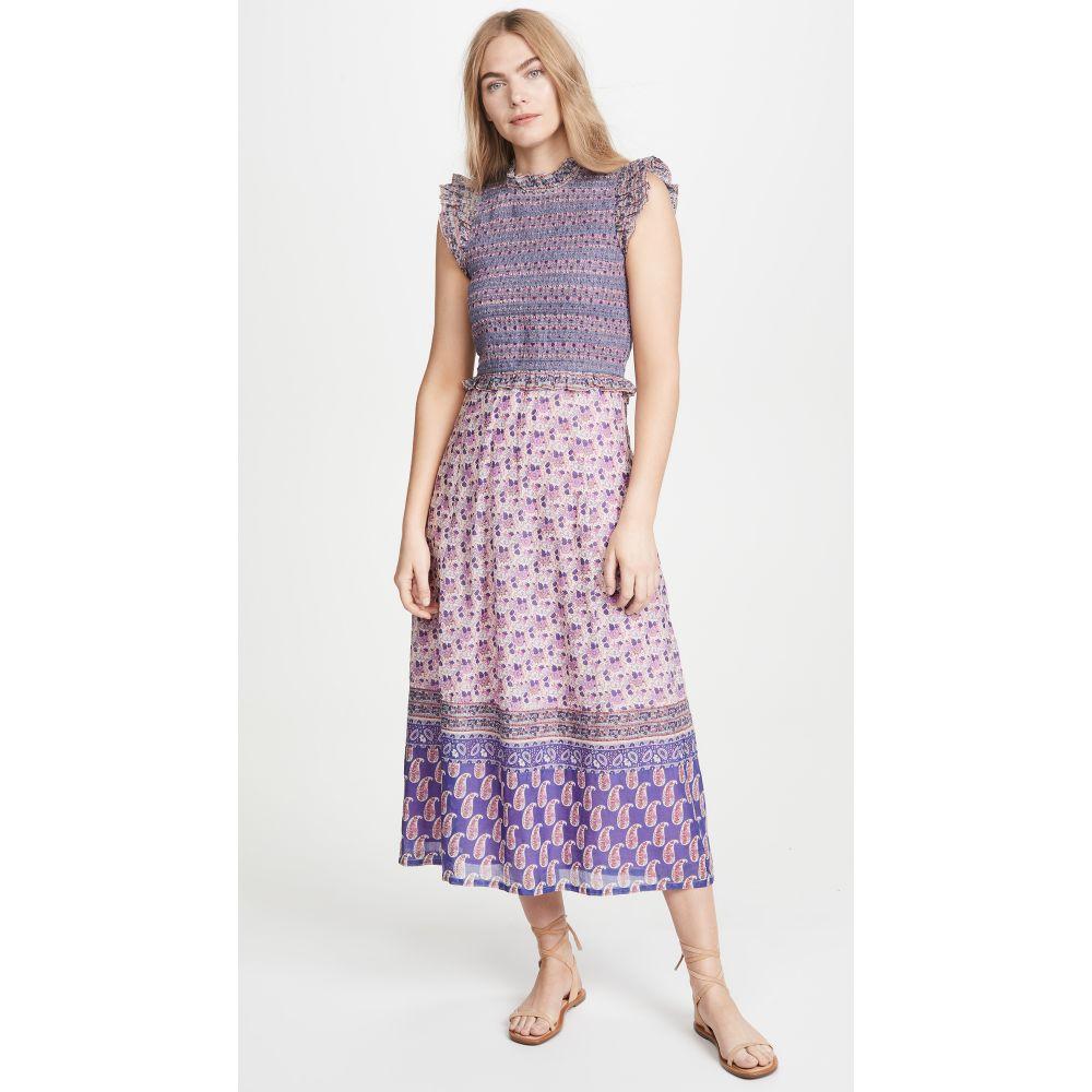 シー Sea レディース ワンピース ミドル丈 ワンピース・ドレス【Bianca Smocked Midi Dress】Violet