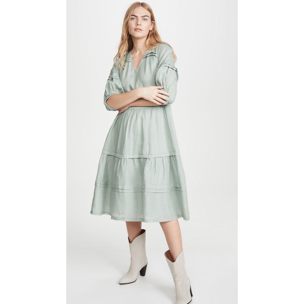 シー Sea レディース ワンピース ミドル丈 ワンピース・ドレス【Lucy Long Sleeve Midi Dress】Seamoss