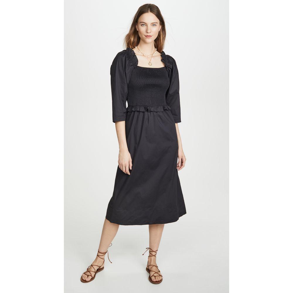 シー Sea レディース ワンピース ワンピース・ドレス【Tabitha Smocked Dress】Black