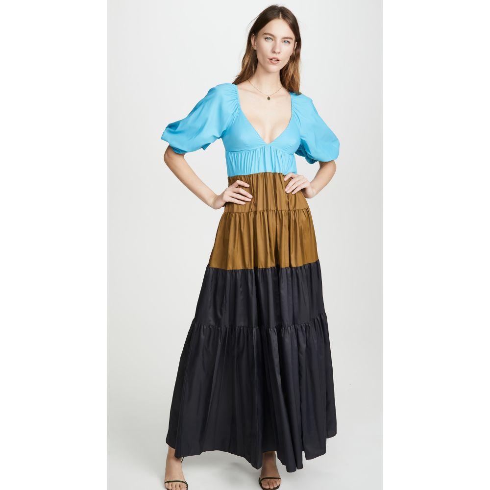 スタウド STAUD レディース ワンピース ワンピース・ドレス【Meadow Dress】Bright Blue/Caper/Black