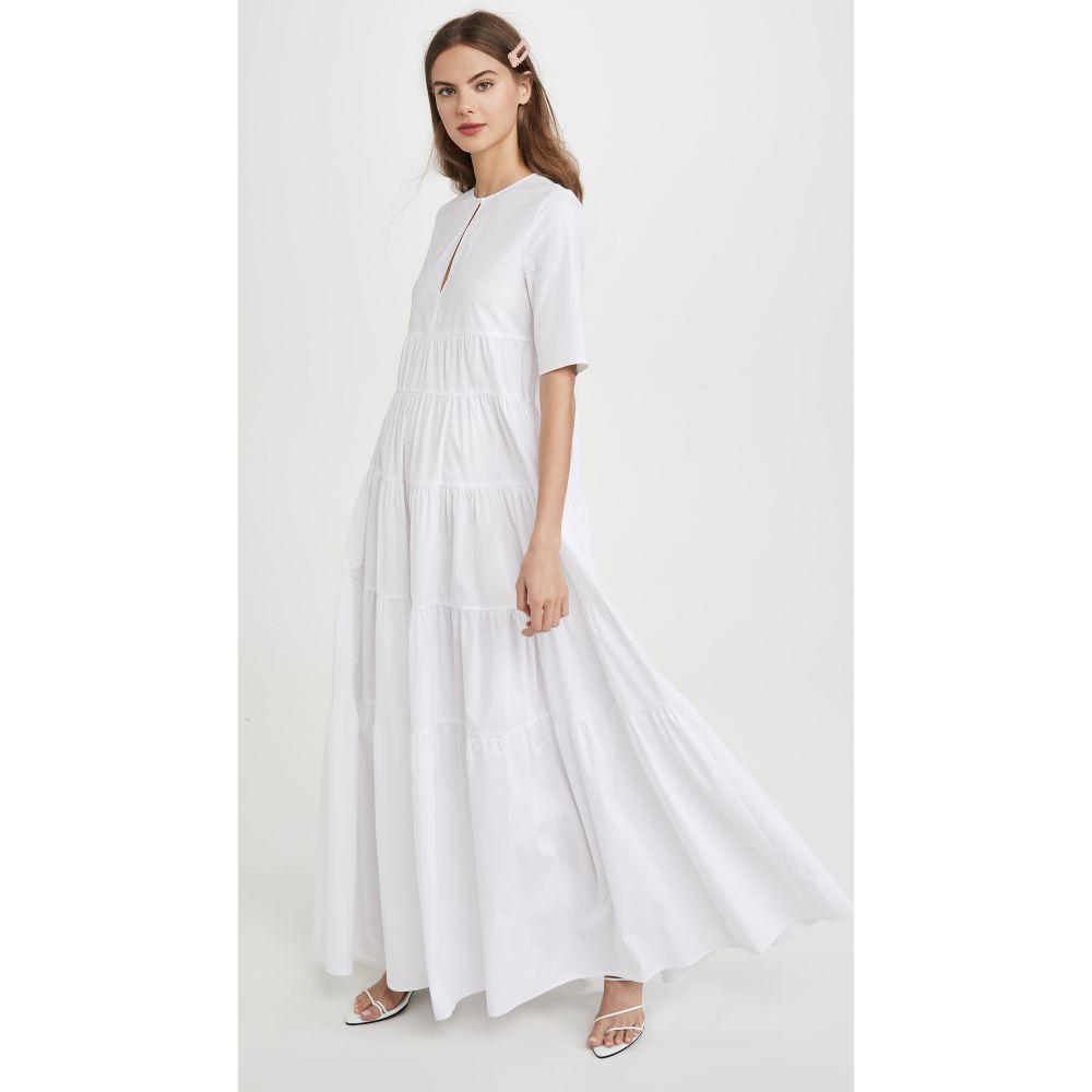 スタウド STAUD レディース ワンピース ワンピース・ドレス【Cocoon Dress】White