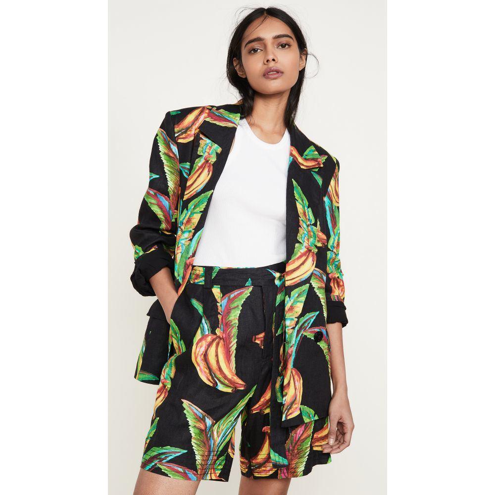 ファーム FARM Rio レディース スーツ・ジャケット アウター【Preta Banana Linen Blazer】Black Multi