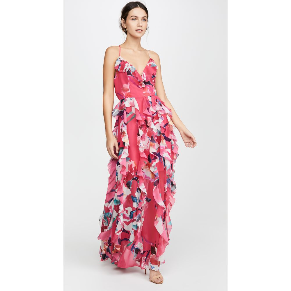 フェイム アンド パートナー Fame and Partners レディース ワンピース ワンピース・ドレス【The Madeline Dress】Sorrento Floral Hot Pink