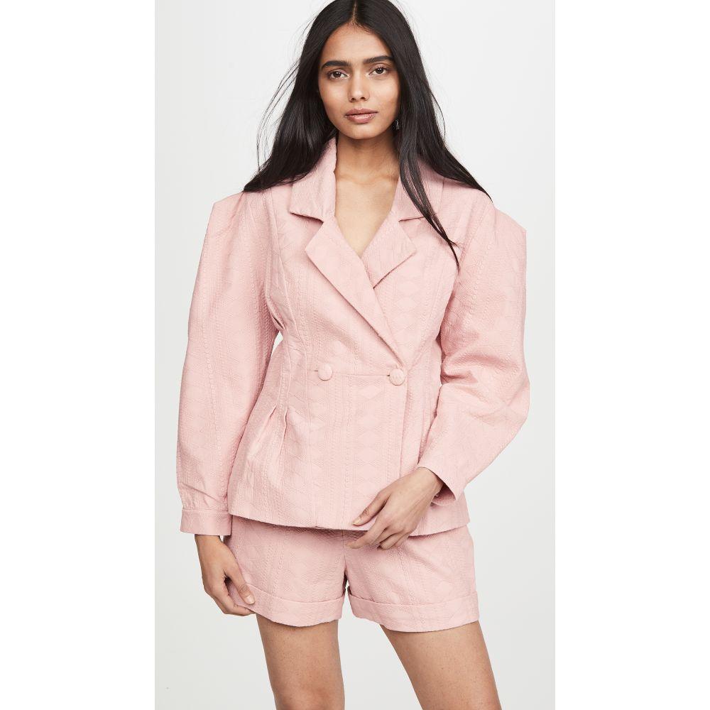 イオラネ IORANE レディース スーツ・ジャケット アウター【Laise Pleated Blazer】Pink