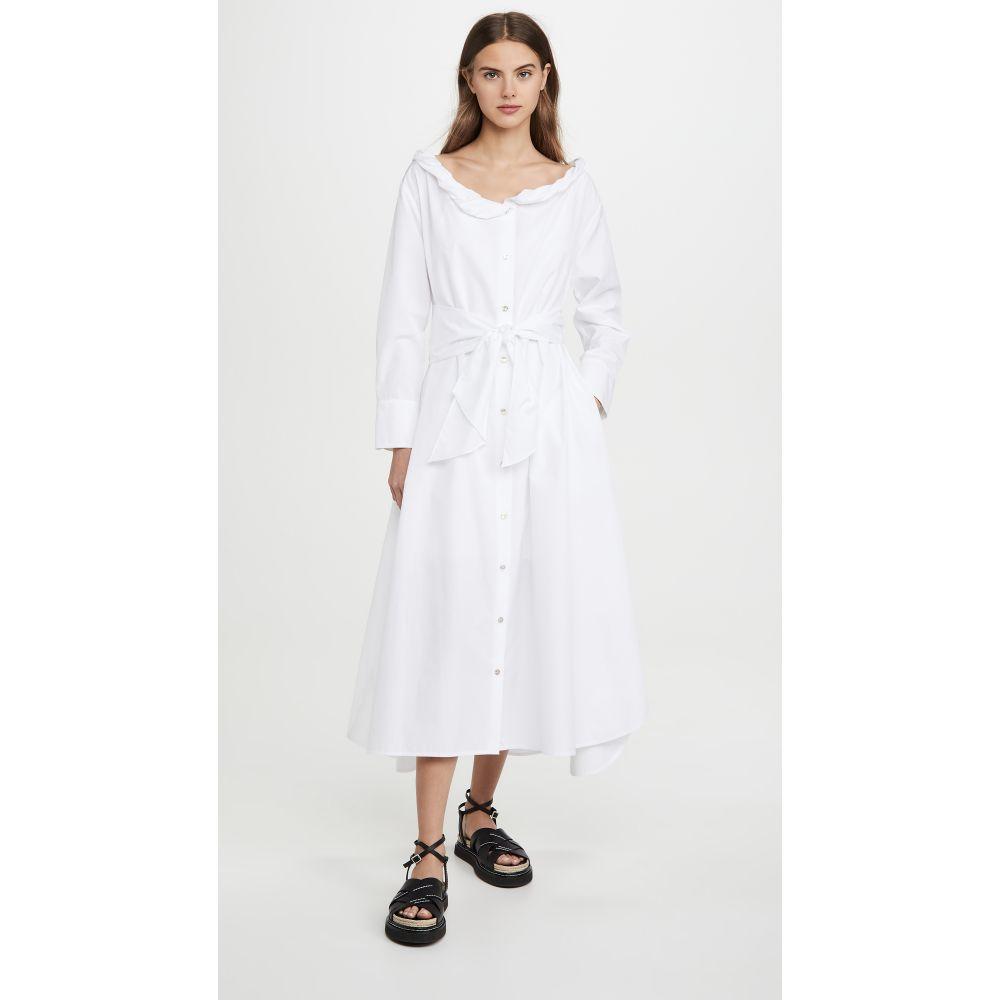 ケンゾー KENZO レディース ワンピース ワンピース・ドレス【Collar Roll Up Long Dress】White