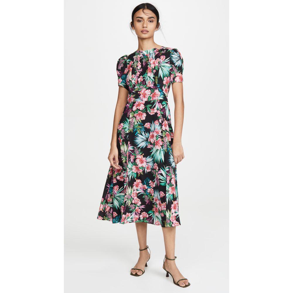 レ レヴェリズ LES REVERIES レディース ワンピース ワンピース・ドレス【Smocked Front Dress】Hibiscus Black