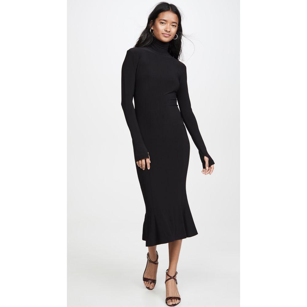 ノーマ カマリ Norma Kamali レディース ワンピース ワンピース・ドレス【Turtleneck Fishtail Dress】Black
