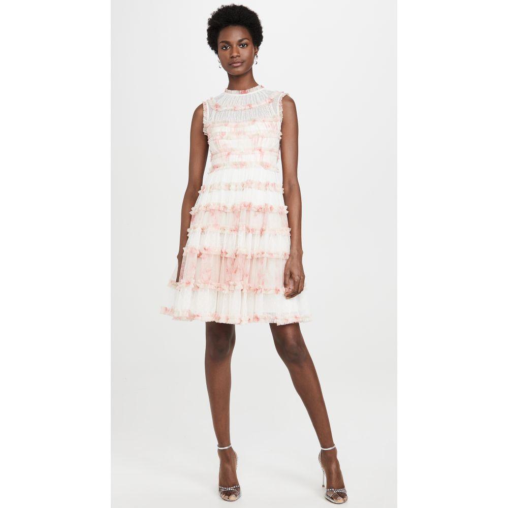 ニードル アンド スレッド Needle & Thread レディース ワンピース ノースリーブ ワンピース・ドレス【Memory Rose Sleeveless Dress】Pink/White