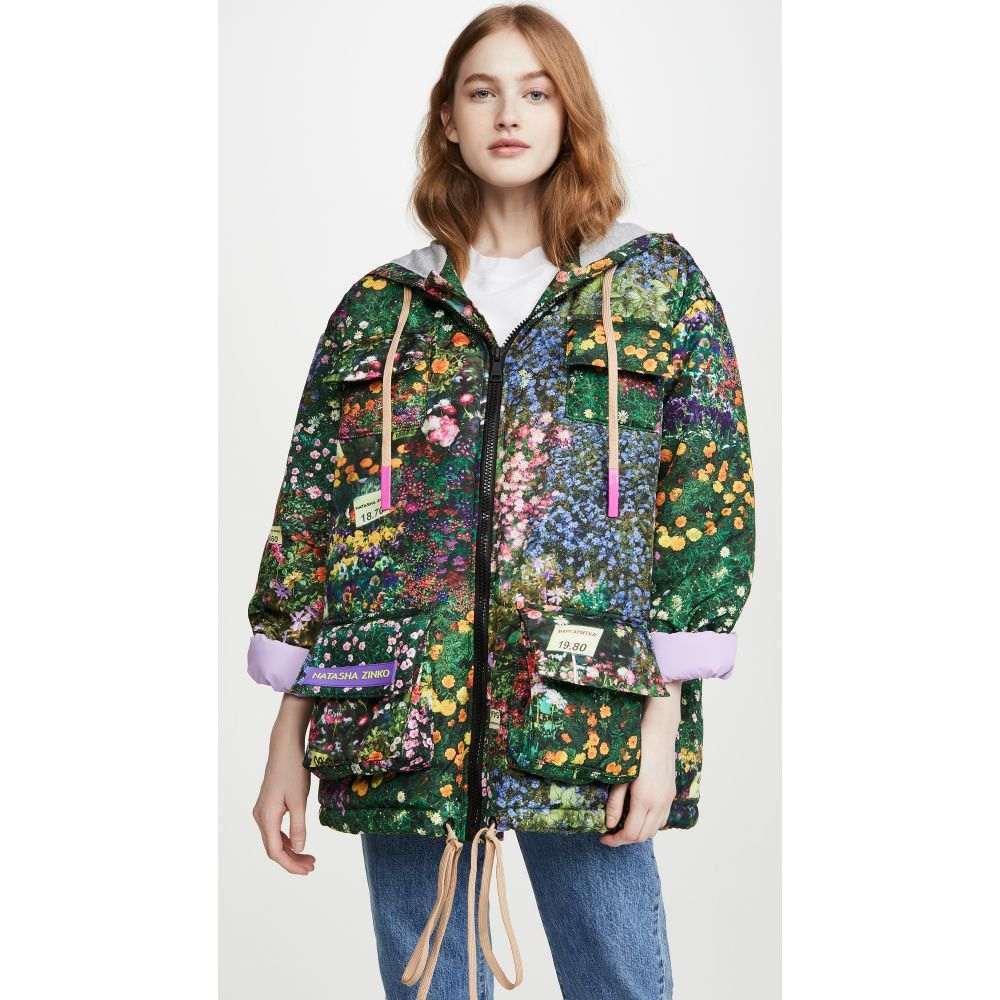 ナターシャ ジンコ Natasha Zinko レディース ジャケット フード アウター【Printed Hooded Badge Jacket】Multi