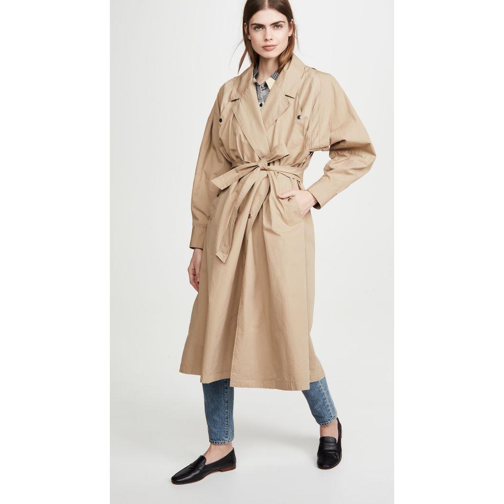 シー Sea レディース コート アウター【Gabriette Pleated Coat】Khaki