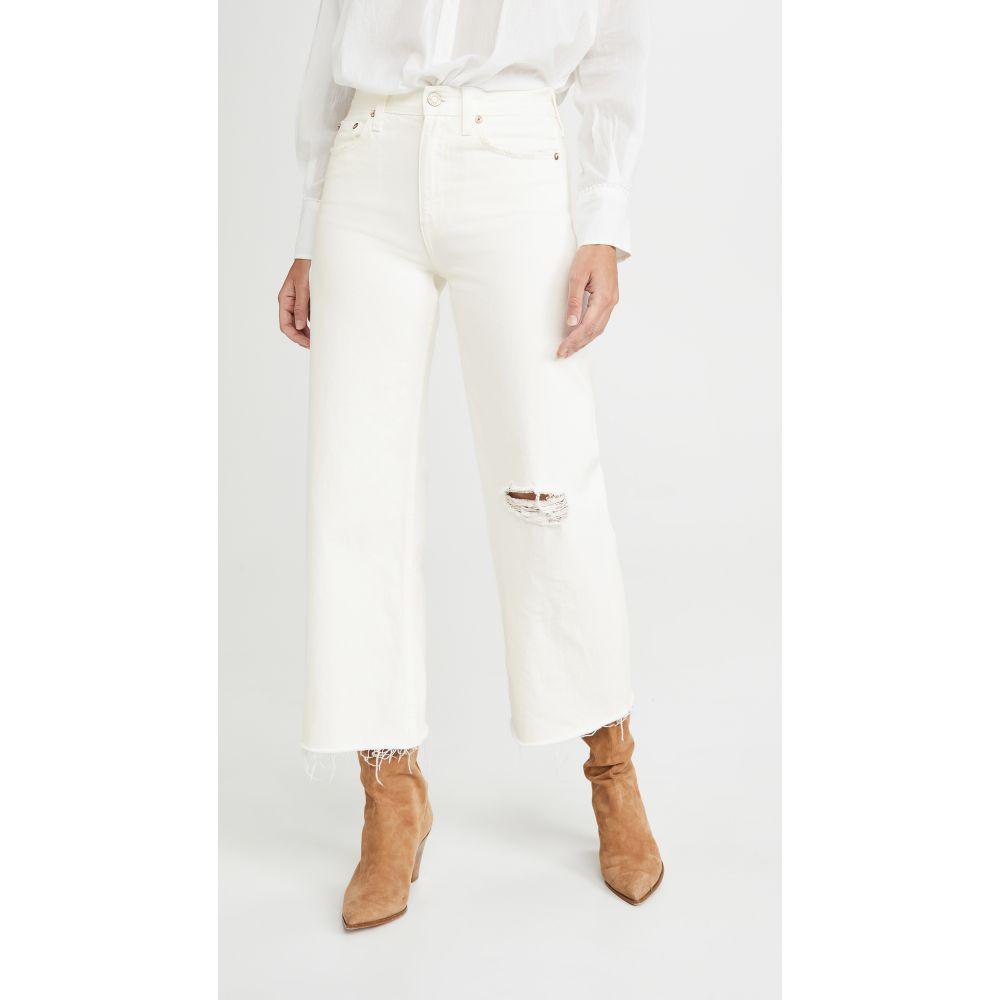 TRAVE レディース ジーンズ・デニム ワイドパンツ ボトムス・パンツ【Audrey Crop Wide Leg Jeans】White Lightning