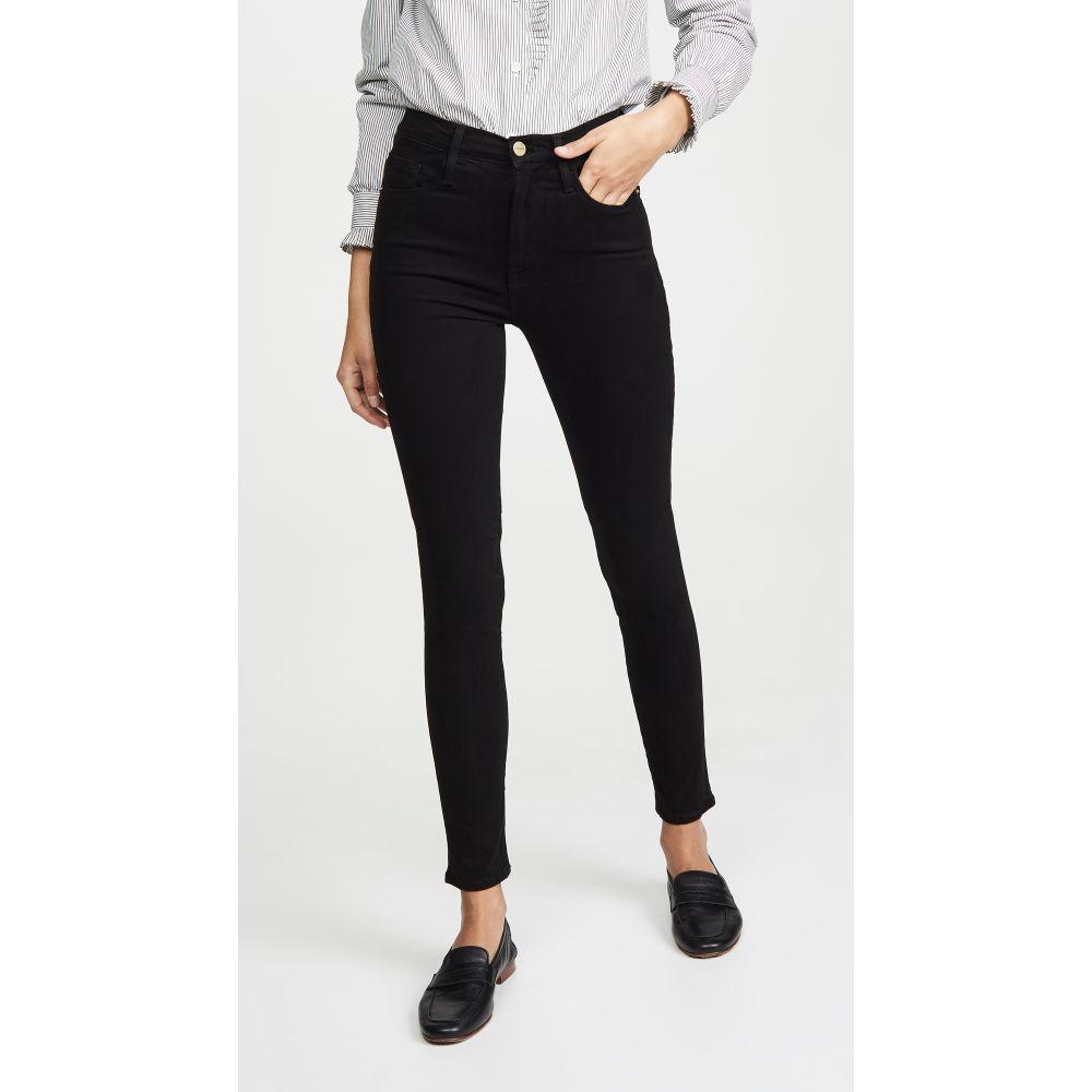 フレーム FRAME レディース ジーンズ・デニム ボトムス・パンツ【Ali High Rise Sateen Jeans】Noir