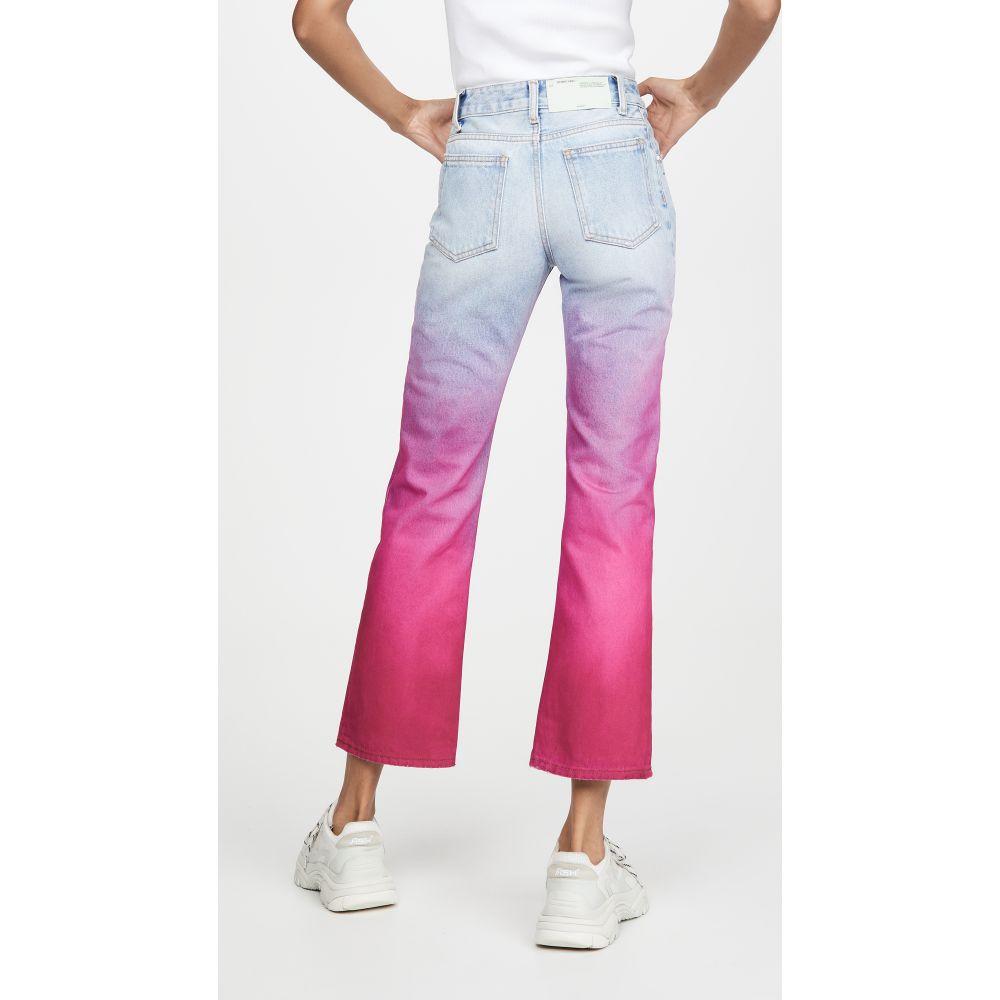 オフホワイト Off-White レディース ジーンズ・デニム ボトムス・パンツ【Degrade Cropped Jeans】Bleach Fuchsia