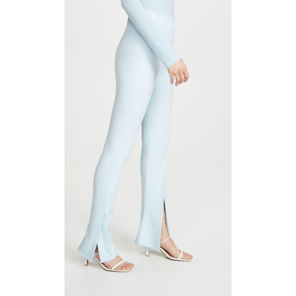 アウェイク モード A.W.A.K.E. MODE レディース ボトムス・パンツ 【Fitted Pants With Side And Frontal Slits】Light Blue