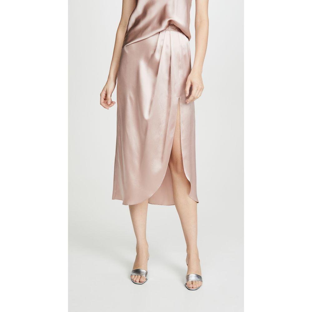 サブリン Sablyn レディース スカート スリットスカート【Ariel Satin Pleated Slit Skirt】Cherry Blossom