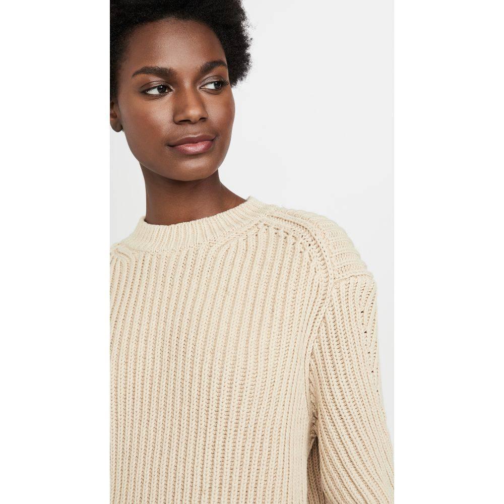 アクネ ストゥディオズ Acne Studios レディース ニット・セーター トップス【Khali Cotton Rib Sweater】Cold Beige