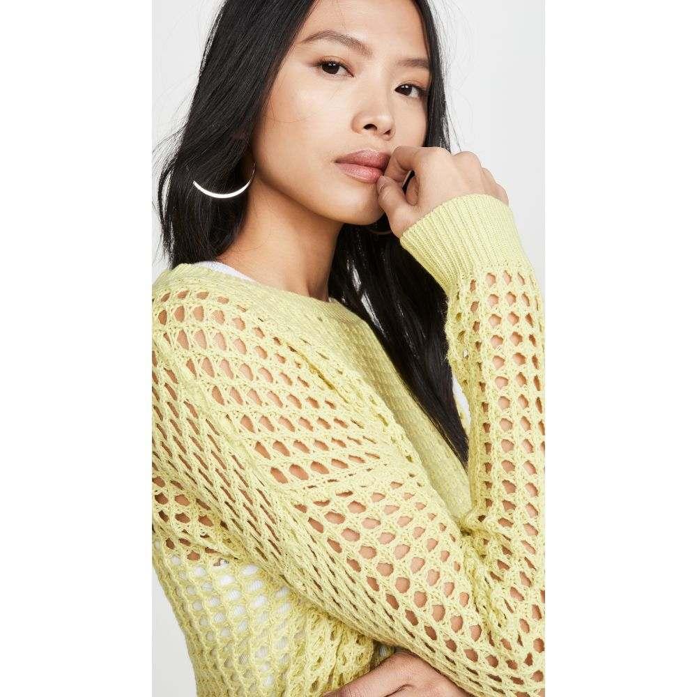DNA レディース ニット・セーター トップス【Lime Crochet Sweater】Lime