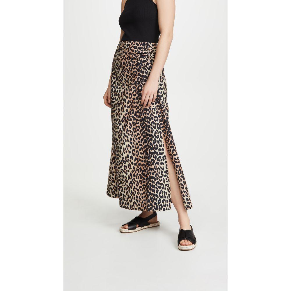 ガニー GANNI レディース スカート 【Printed Poplin Skirt】Leopard