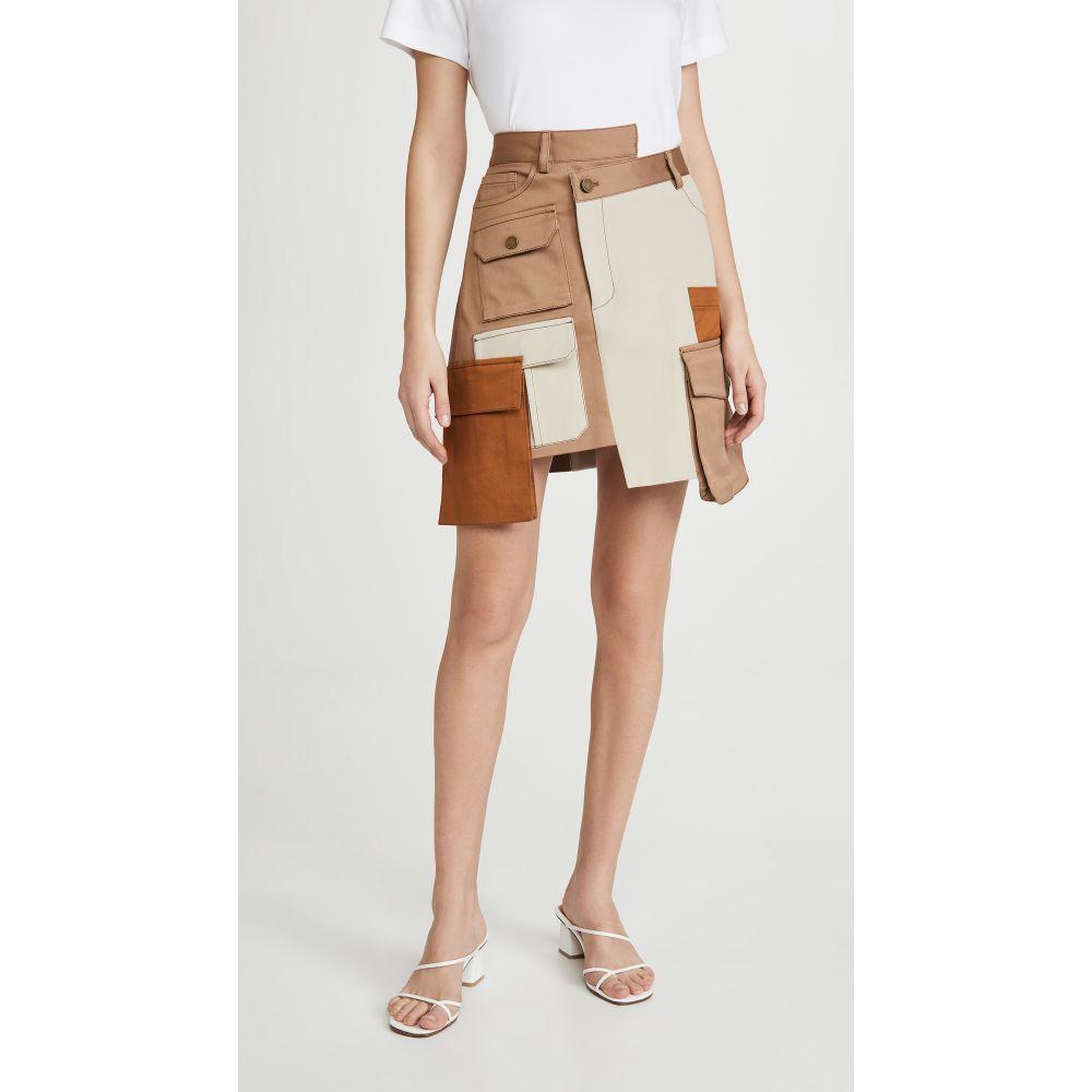 モンス Monse レディース ミニスカート スカート【Multi Color Patch Pocket Miniskirt】Mushroom Multi