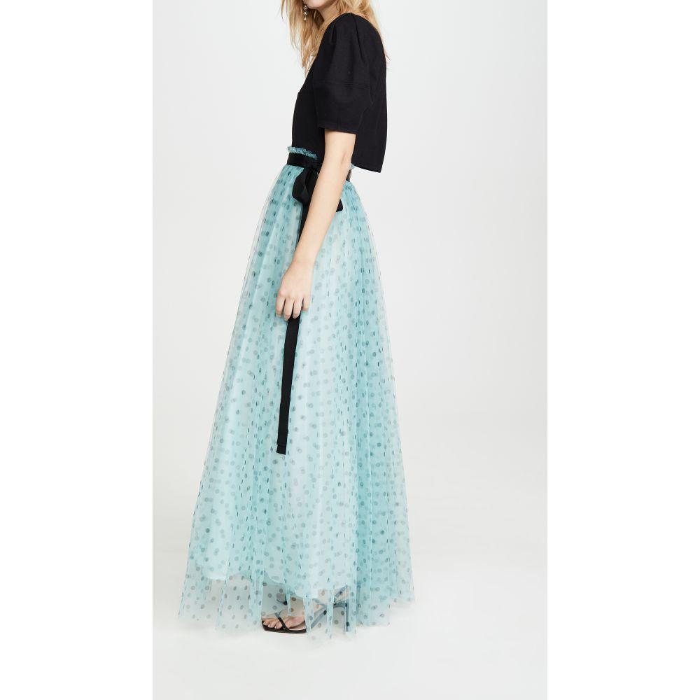 スタウド STAUD レディース スカート 【Poppy Skirt】Seafoam Dot