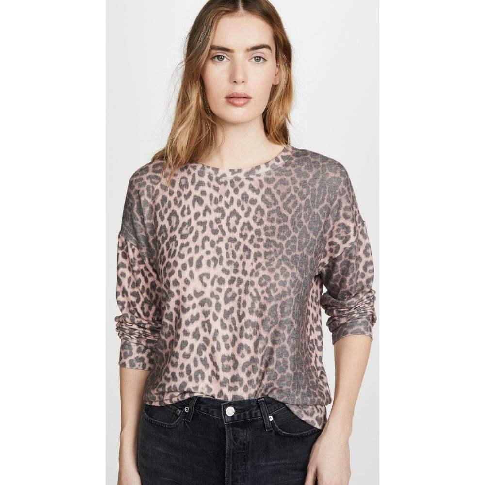 サンドリー SUNDRY レディース ニット・セーター トップス【Animal Print Drapey Sweater】Pink