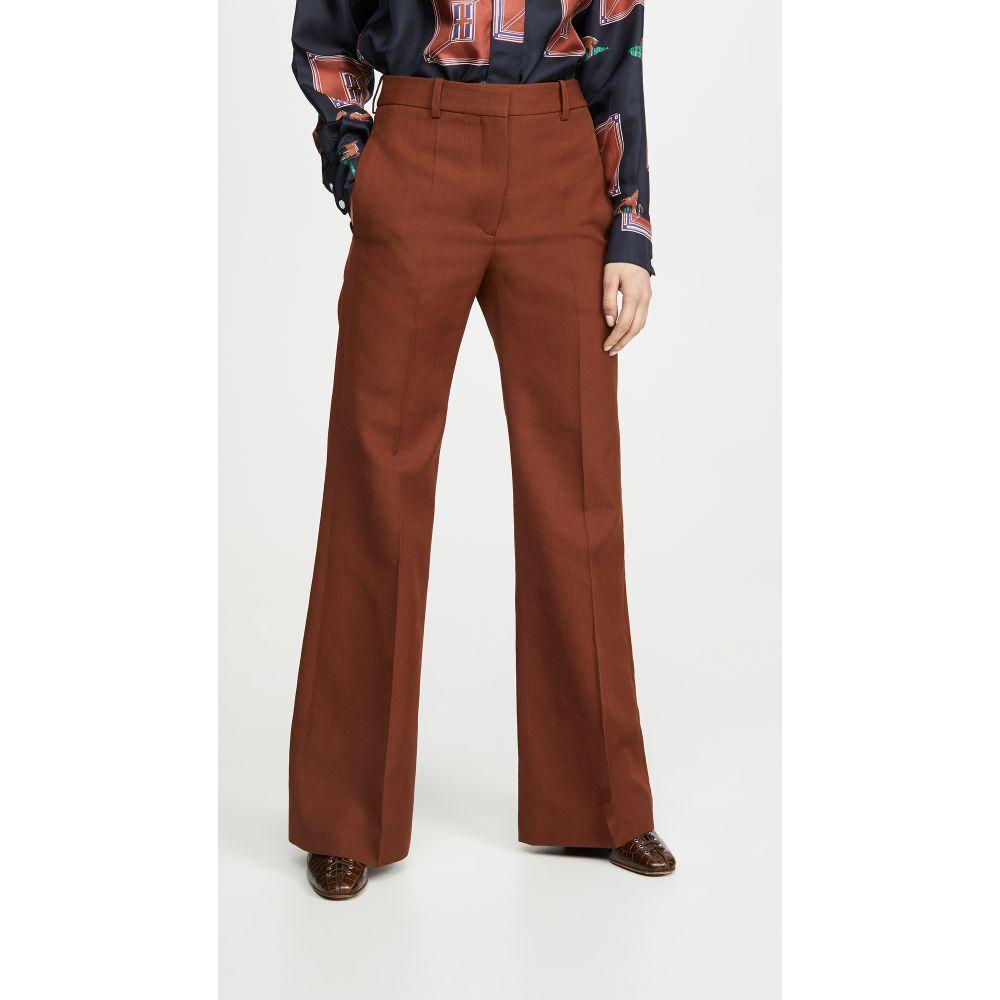 ヴィクトリア ベッカム Victoria Beckham レディース ボトムス・パンツ ワイドパンツ【High Waisted Wide Leg Pants】Chestnut