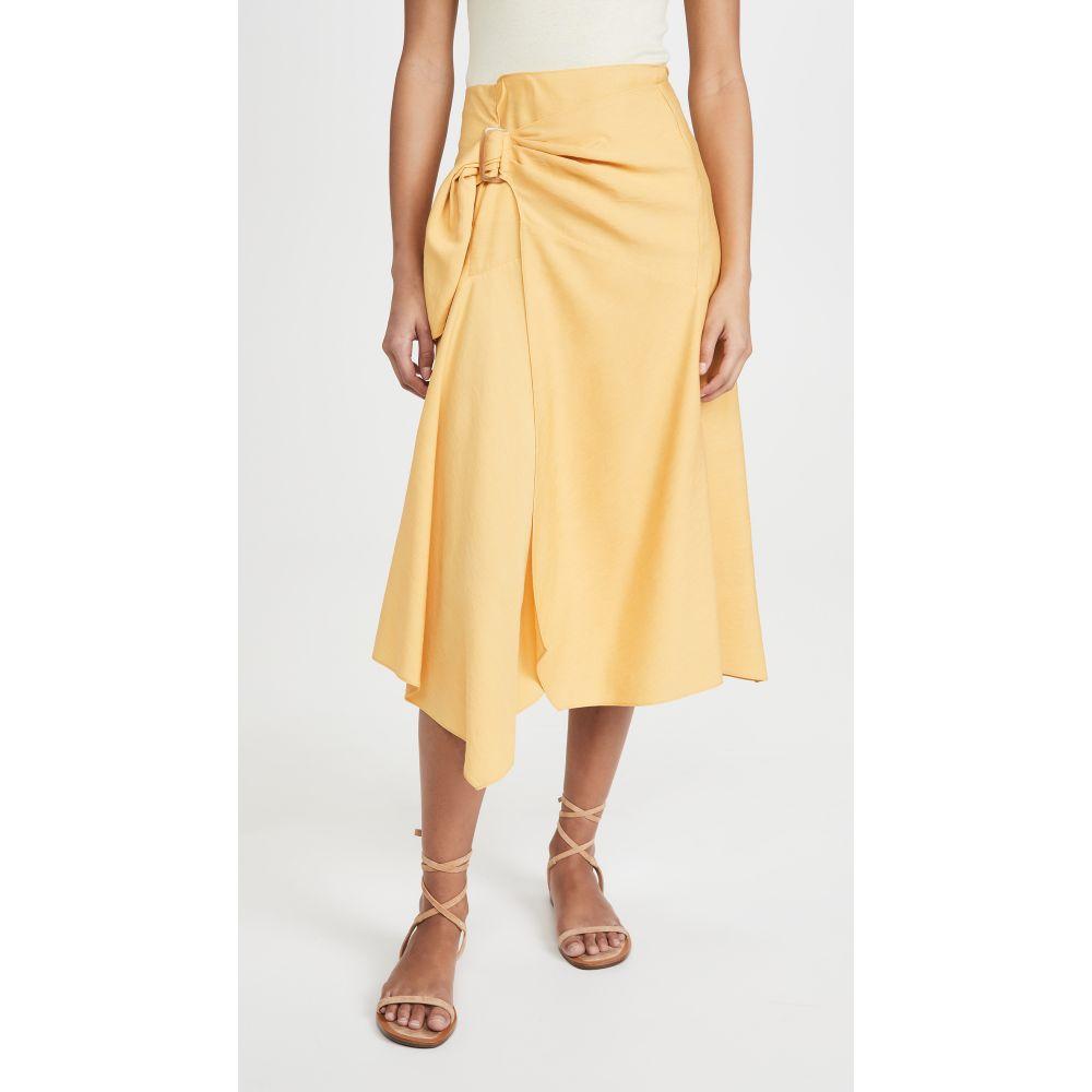 ヴィンス Vince レディース スカート 【Side Buckle Draped Skirt】Lemon Glaze