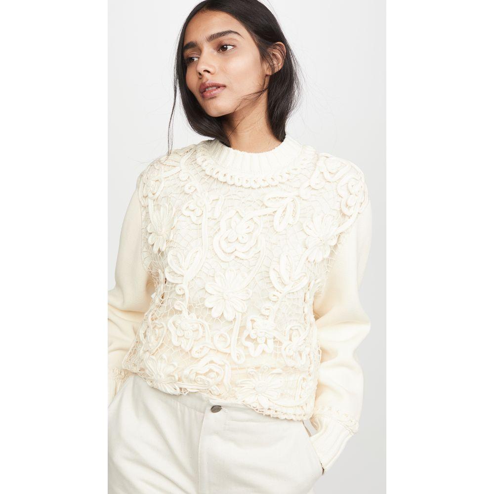 ヴィクトリア ベッカム Victoria Victoria Beckham レディース ニット・セーター トップス【Macrame Front Sweater】Ecru