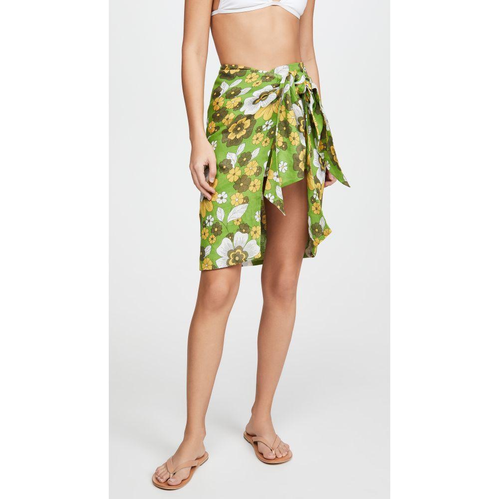 ドド バー オア DODO BAR OR レディース ビーチウェア スカート 水着・ビーチウェア【Mosa Skirt】Flower Green