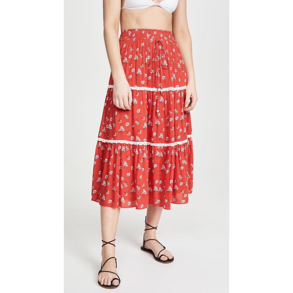 プラヤ ルシラ Playa Lucila レディース ビーチウェア スカート 水着・ビーチウェア【Floral Skirt】Red Floral
