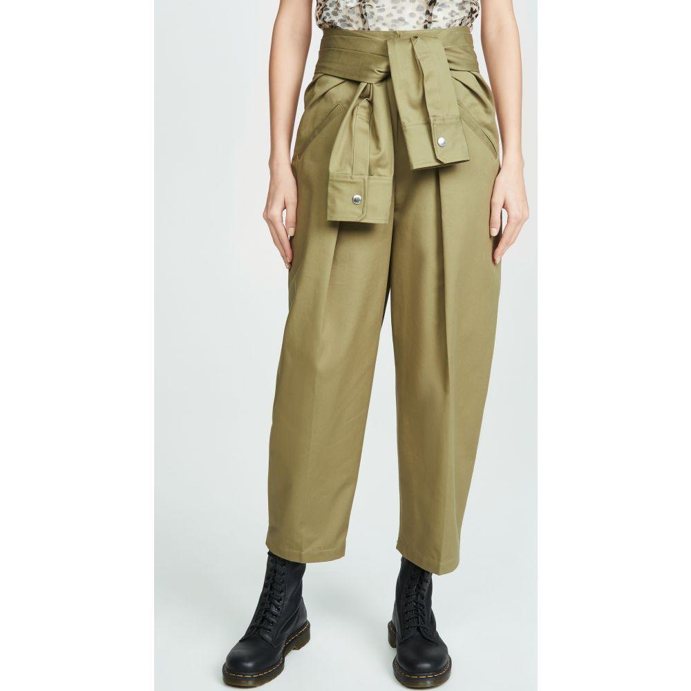 アレキサンダー ワン Alexander Wang レディース ボトムス・パンツ 【Cotton Tie Front Waist Trousers】Field Green