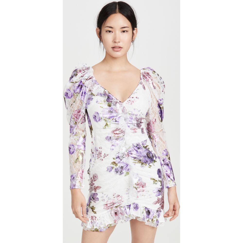 フォーラブアンドレモン For Love & Lemons レディース ワンピース ミニ丈 ワンピース・ドレス【Wildflower Foil Lace Mini Dress】Lavender