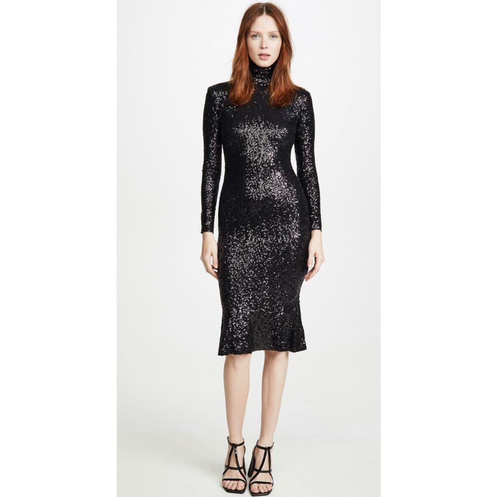 ノーマ カマリ Norma Kamali レディース ワンピース ワンピース・ドレス【Sequin Fishtail Dress】Black