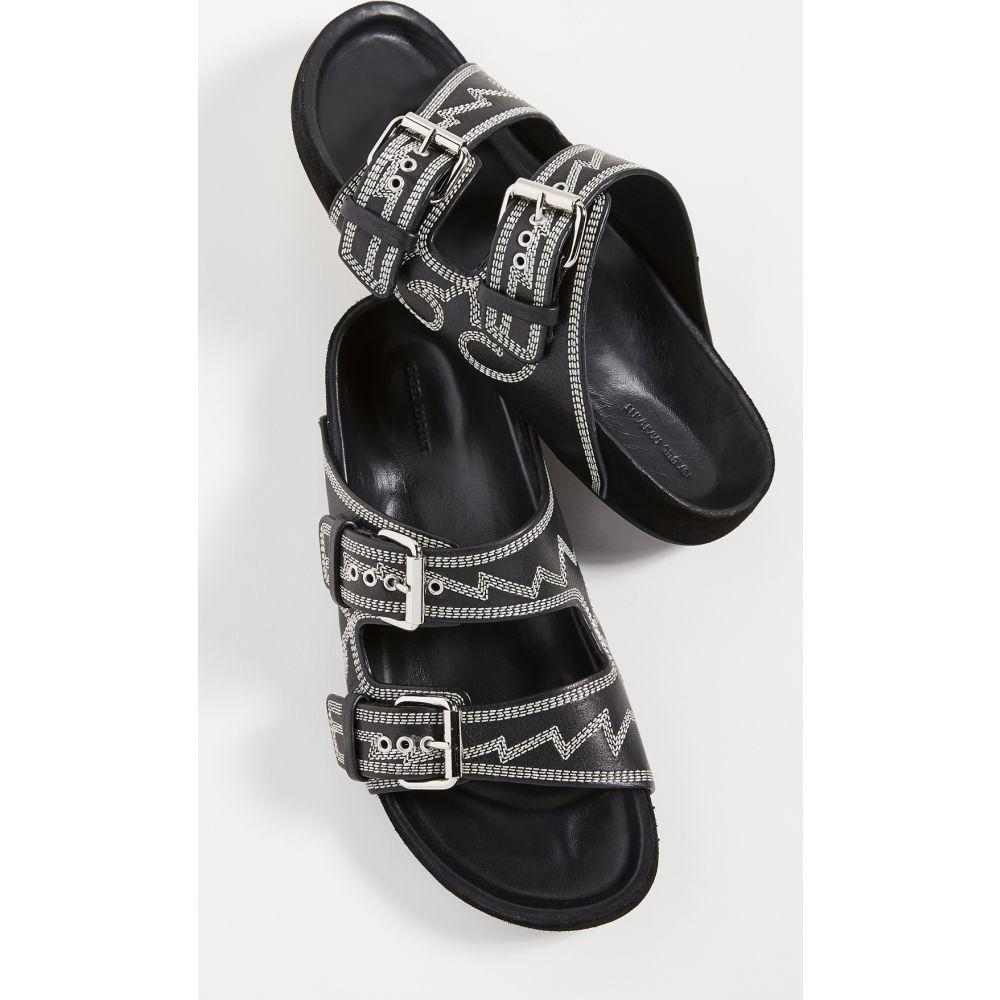 イザベル マラン Isabel Marant レディース サンダル・ミュール シューズ・靴【Lennyo Sandals】Black/Ecru