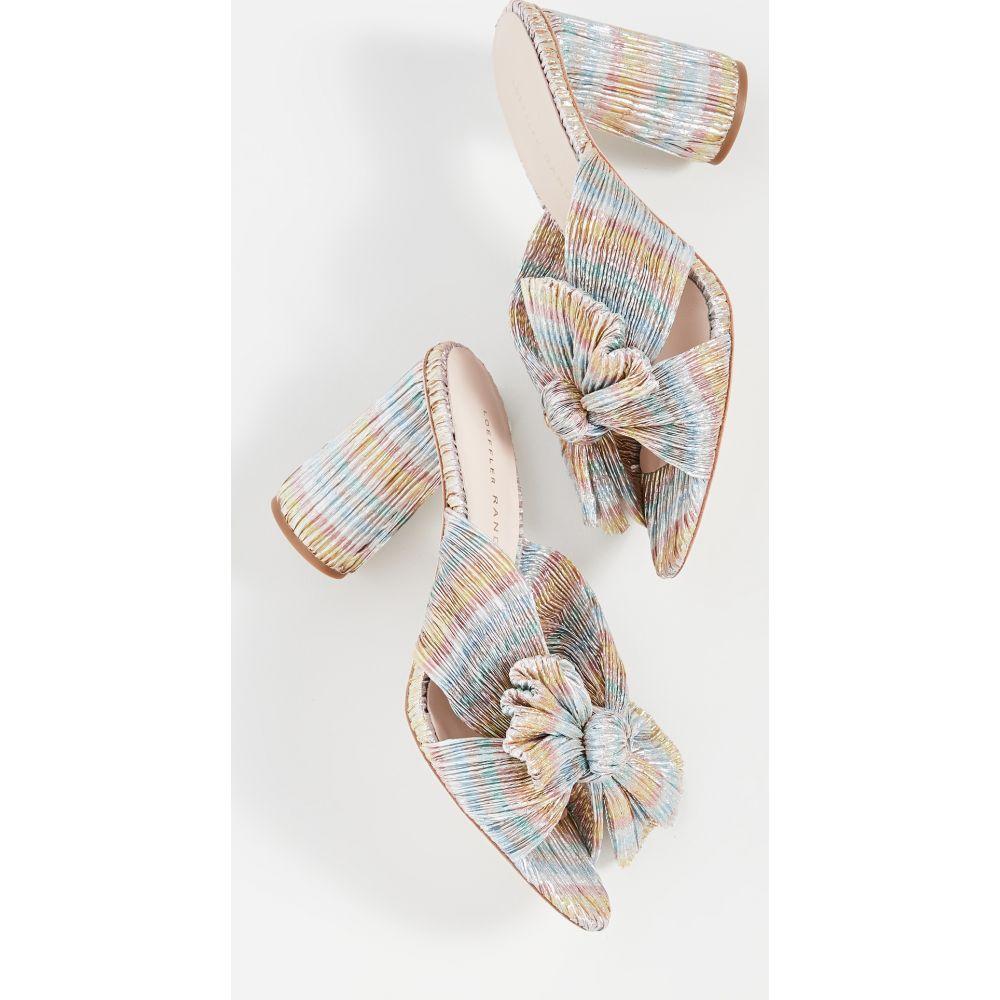 ロフラーランドール Loeffler Randall レディース サンダル・ミュール シューズ・靴【Penny Knot Mules】Pastel Candy Stripe